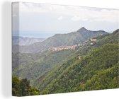 Berglandschap van het Nationaal park Sila in Italië Canvas 60x40 cm - Foto print op Canvas schilderij (Wanddecoratie woonkamer / slaapkamer)