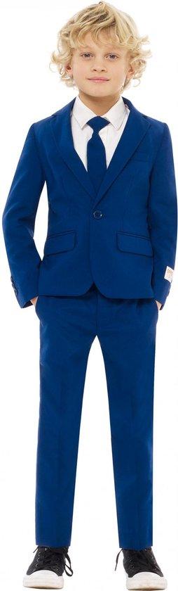 OppoSuits Navy Royale - Jongens Kostuum - Blauw - Feest - Maat 92/98
