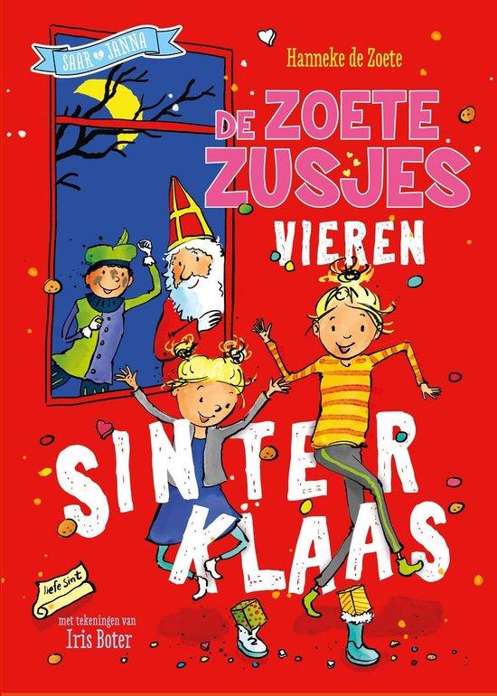 Omslag van De zoete zusjes vieren Sinterklaas