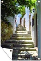 Tuinposter - trappen in de straten van de Oude stad van Rhodos - 80x120 cm