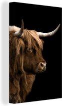 Canvas Schilderijen Schotse hooglander - Vacht - Dier - 80x120 cm - Wanddecoratie