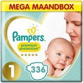 Pampers Premium Protection - Maat 1 - Mega Maandbox - 336 luiers