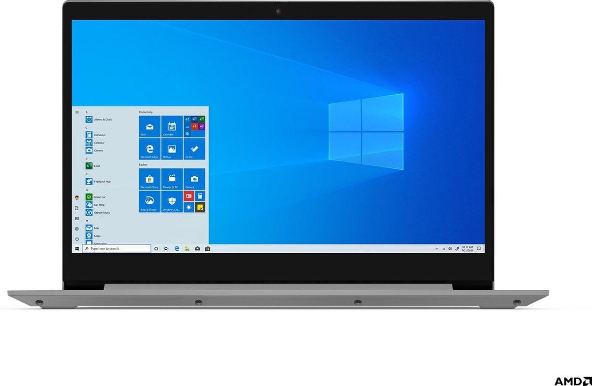 """Lenovo IdeaPad 3 DDR4-SDRAM Notebook 43,9 cm (17.3"""") 1600 x 900 Pixels AMD Ryzen 5 8 GB 256 GB SSD Wi-Fi 5 (802.11ac) Windows 10 Home Grijs, Platina"""