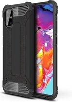 Samsung Galaxy A71 Hoesje - Armor Hybrid - Zwart