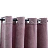Gordijnen verduisterend met ringen 2 st 140x245 cm fluweel roze