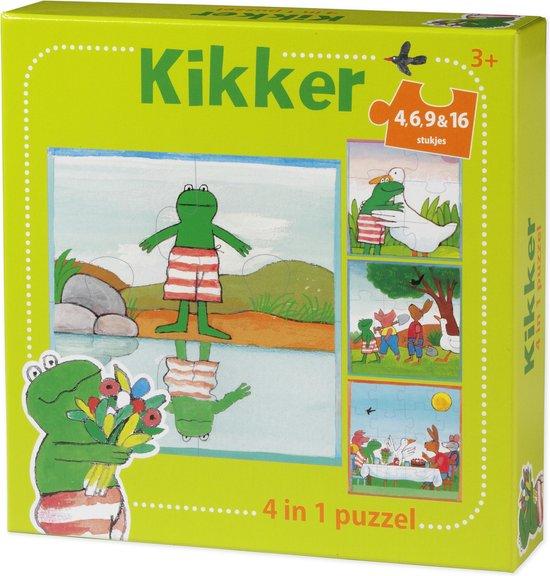 De wereld van Kikker – 4in1 puzzelset – 4+6+9+16 stukjes – kinderpuzzel