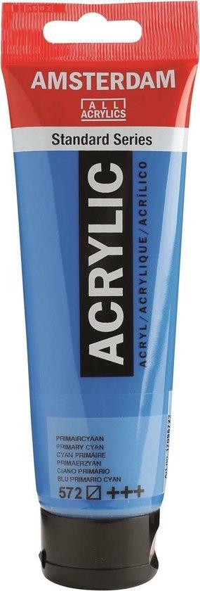 Amsterdam Standard Acrylverf 120ml 572 Primaircyaan