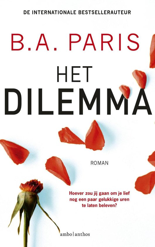 Boek cover Het dilemma van B.A. Paris (Onbekend)