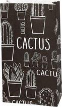 Vivi Gade Papieren Zakken 12 X 6 X 21 Cm 10 Stuks Cactus