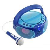 Lenco SCD-650 - Karaoke Radio/CD-speler - Blauw