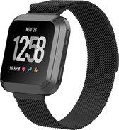 Shop4 - Fitbit Versa 2 Bandje - Small Metaal Zwart