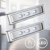 B.K.Licht - LED kastverlichting - zelfklevend - druklampen - 6.000 K - op batterij