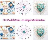 Edelsteen- en inspiratiekaarten | 6 stuks | 14,7 x 14,7 cm | set 3