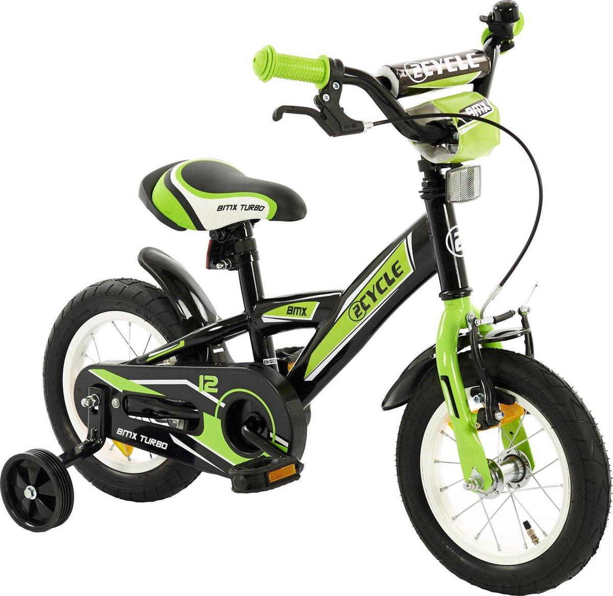 2Cycle BMX Kinderfiets - 12 inch - Groen - Jongensfiets