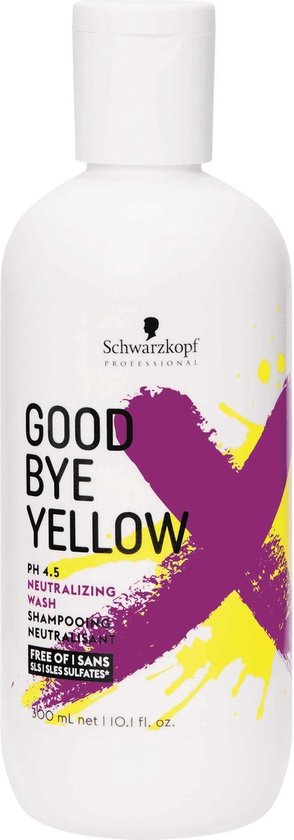 Schwarzkopf Goodbye Yellow Sulfaatvrije Shampoo 300ml