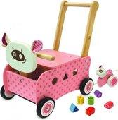 I'm Toy Loop/duwwagen Varkentje - Roze