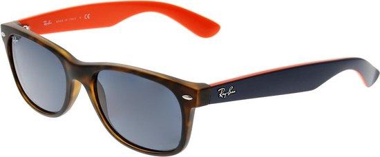 Ray-Ban RB2132 6180R5 - zonnebril - New Wayfarer (Matte) - Tortoise Blauw / Blauw Grijs Klassiek - 55mm