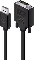 Alogic DisplayPort to DVI-D Kabel M/M 1m zwart