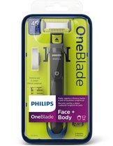 Philips OneBlade Face + Body QP2620/20 - Trimmer, scheerapparaat en styler
