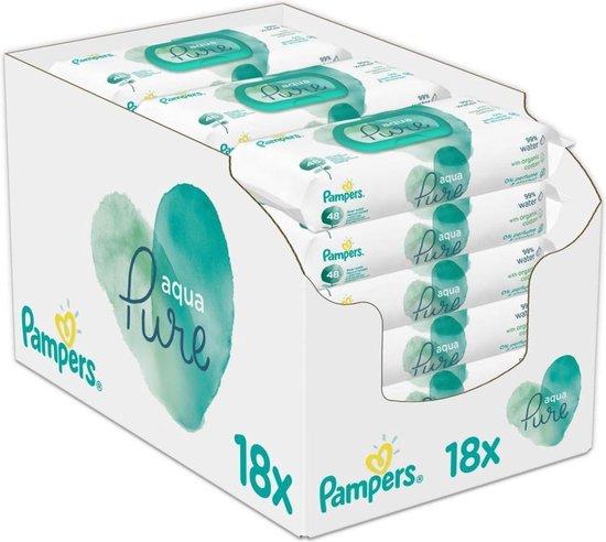 Pampers Aqua Pure Billendoekjes - 864 stuks