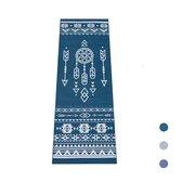 Love Generation ● Design Yoga Mat ● Fitness Mat ● Tribal Print ● Blauw