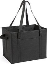 Auto kofferbak/kasten organizer tas zwart vouwbaar 34 x 28 x 25 cm - Vouwbaar - Auto opberg accessoires