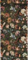 ESTAhome behang bloemen vergrijsd olijfgroen - 139170 - 0.53 x 10.05 m