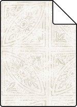 ESTAhome A4 staal van behang tegelmotief beige - 148336 - 21 x 26 cm