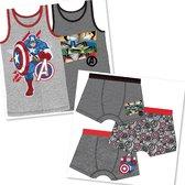 Marvel Avengers ondergoed set 5-delig - 3x boxershort + 2x hemd - Katoen