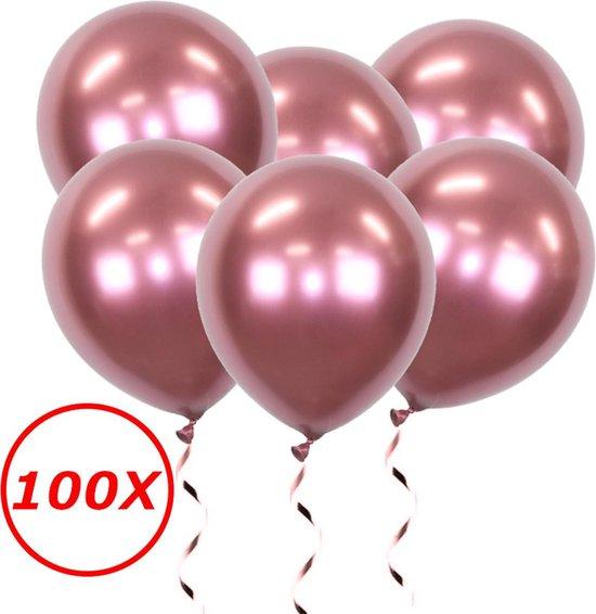 Rode Ballonnen Verjaardag Versiering Helium Ballonnen Feest Versiering Valentijn Decoratie Chrome Rood - 100 Stuks
