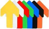 Pijl   Oranje  130 x 190 mm - vloersticker met gladde toplaag
