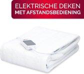 Alpina Warmtedeken - Elektrisch - 3 Warmtestanden - met Afstandsbediening - Wasbaar - 1-Persoons - Wit