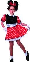 Carnavalskleding Minnie mouse meisje modern muis Maat 140