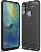 Huawei P Smart (2019) Geborsteld TPU Hoesje Zwart