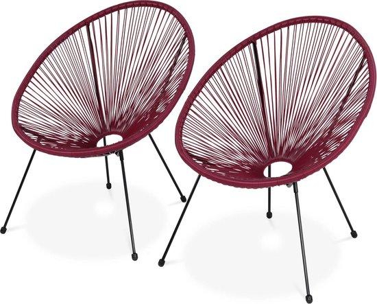 Tweedehands Design Eetstoelen.Bol Com Set Van 2 Design Stoelen Ei Vormig Acapulco