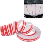 12 mm × 9,8 m auto zelfklevende decoratieve streep tape lijn (rood)