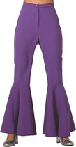 Hippie dames broek bi-Stretch paars Maat 36