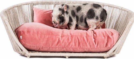 Laboni Design hondenbed Vogue fluweel rose