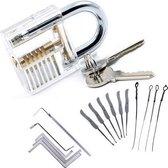 Slotenmaker oefenset lock-pick Lock pick doorzichtig hangslot / HaverCo