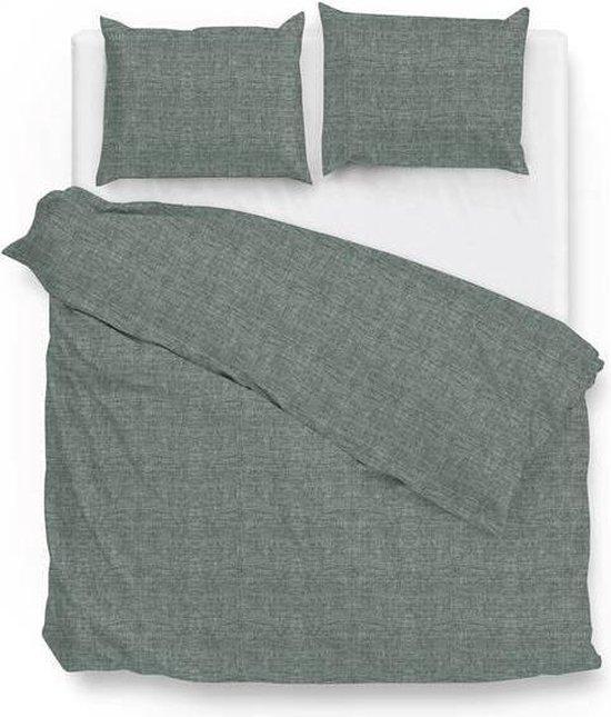 Zo! Home Lino Dekbedovertrek - Lits-jumeaux - 240x200/220 cm + 2 kussenslopen 60x70 cm - Emerald Green