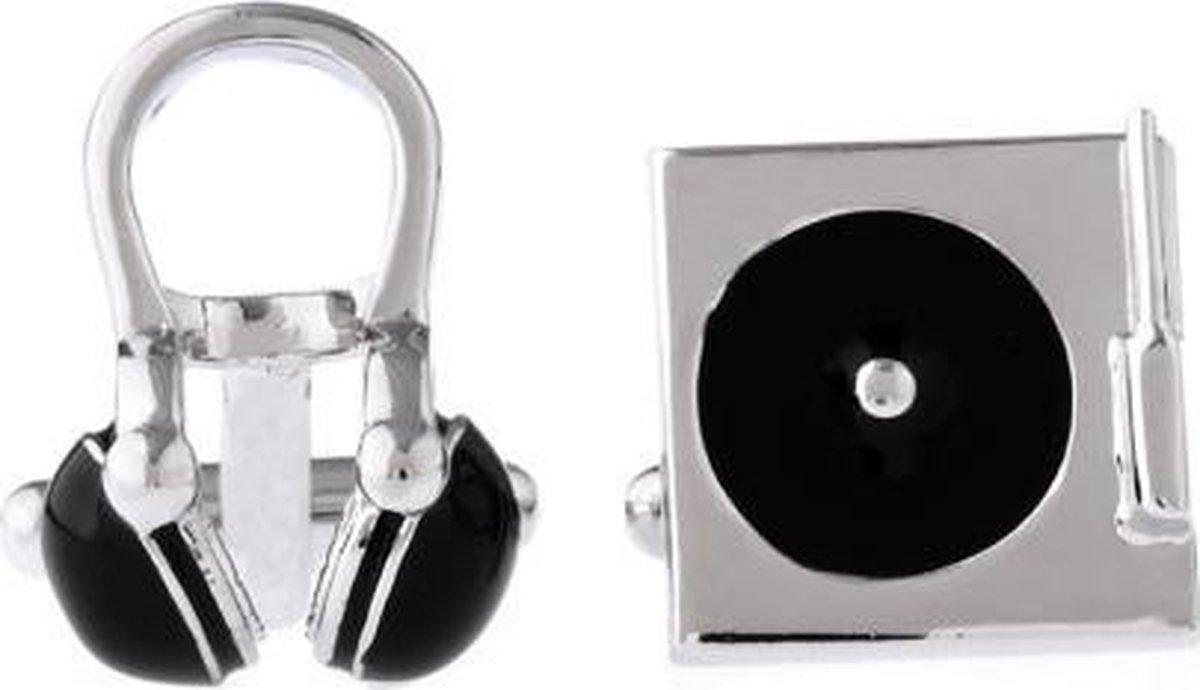Manchetknopen - Manchette knopen - Muziek - DJ set - Draaitafel - Koptelefoon - Disc Jockey - Treasure Trove