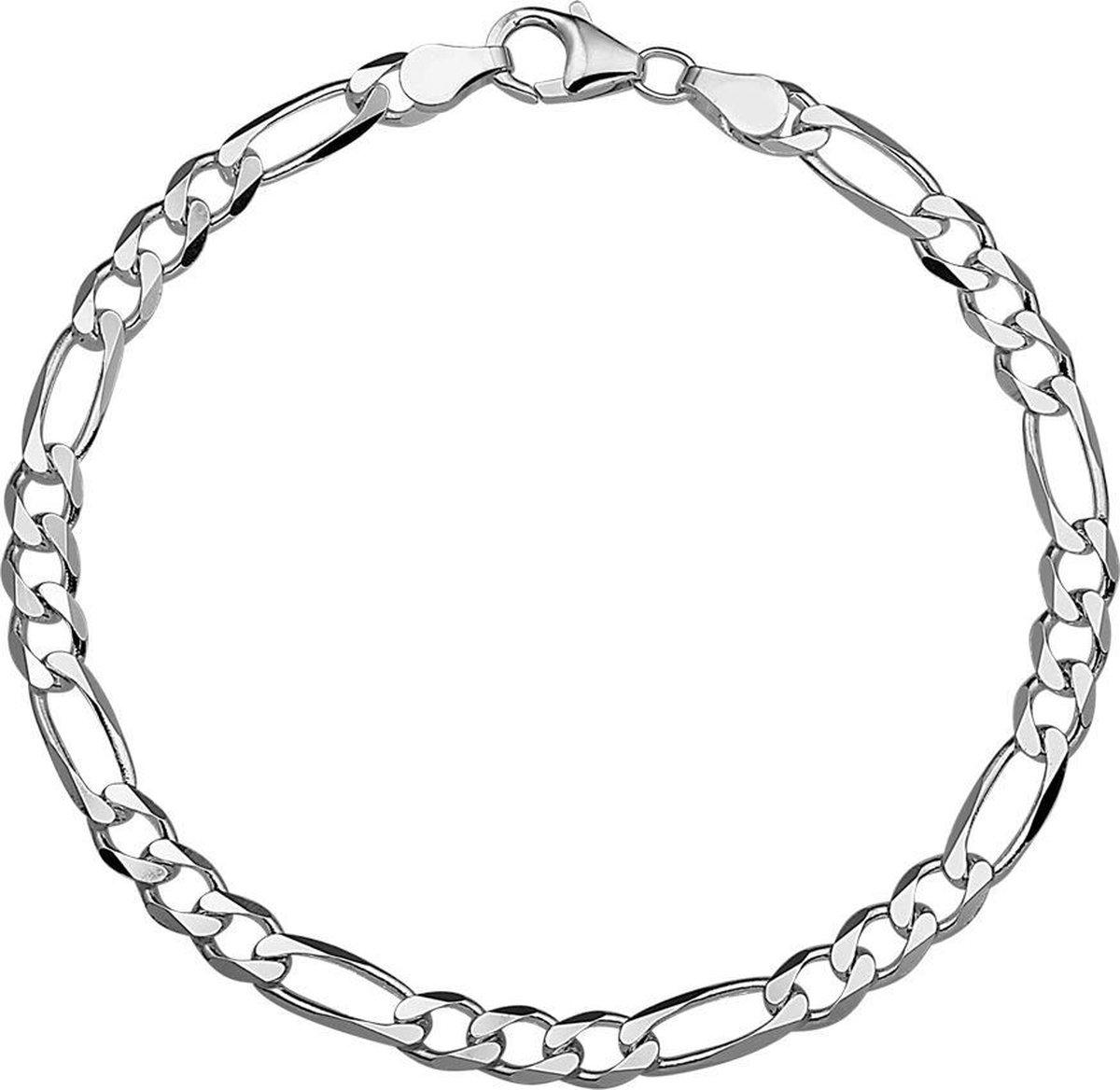 Vigor Figaro Heren Armband 4,5 mm - Zilver - Vigor