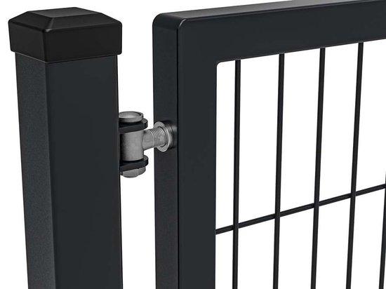 Dubbelstaafmat Hekwerk poort enkel |  premium 100 cm breed | 120  cm hoog