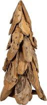 Teakhouten/Roothout Kerstboom 100cm