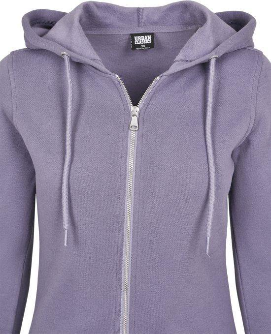 Dames Sweat Parka 1075 paars