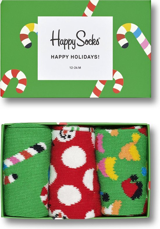 Happy Socks Kids Holiday Candy Giftbox - Maat 12-24 maanden