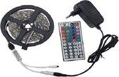 RGB Led strip - 5 m - 20 kleuren - incl. 44 button remote