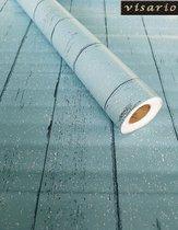 fotobehang - Zelfklevende folie - Blauwe planken