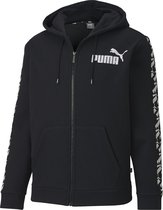 PUMA Amplified Hooded Jacket FL Heren Trui - Puma Black - Maat XL