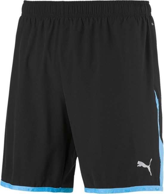 PUMA Last Lap Color Block Short Heren Sportbroek - Puma Black-Ethereal Blue - Maat S